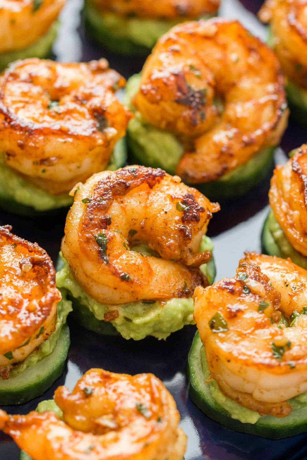 Keto Avocado and Cucumber Shrimp