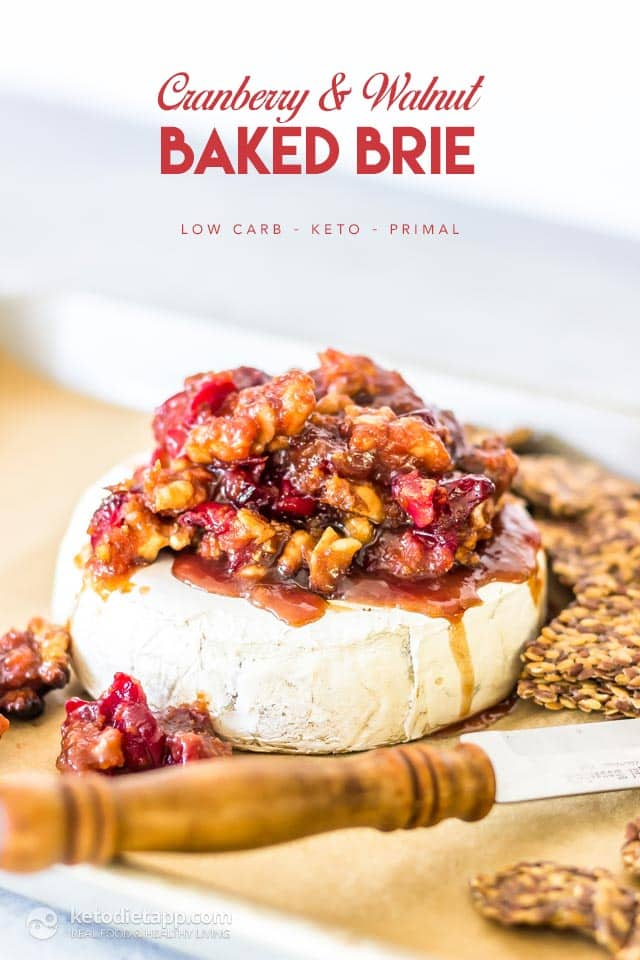 Keto Cranberry Walnut Baked Brie