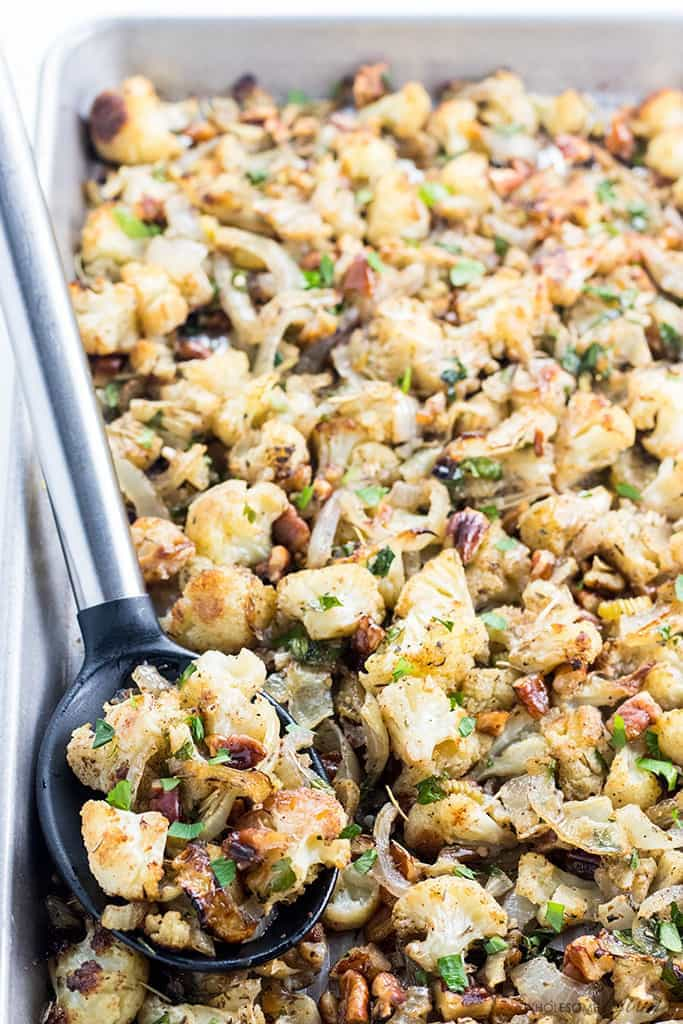 Keto Cauliflower Stuffing
