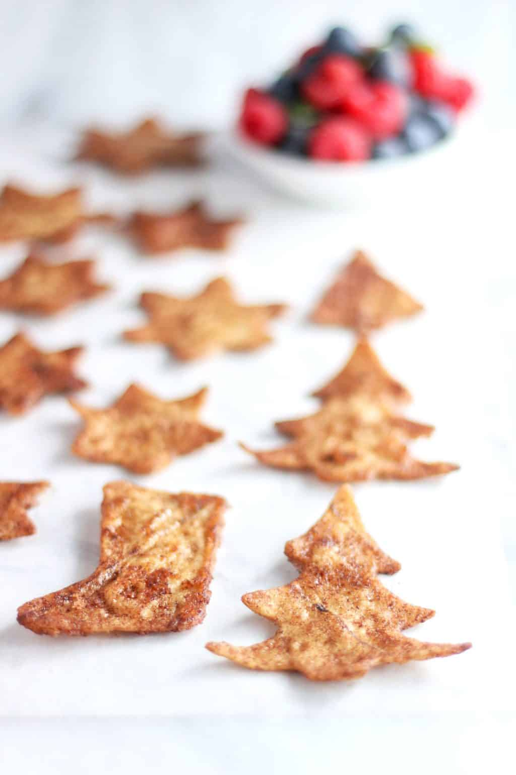 Christmas Cookie Cutter Tortilla Chips