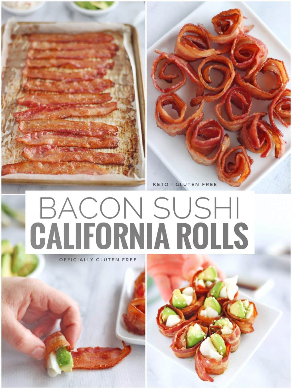 Keto Bacon California Rolls