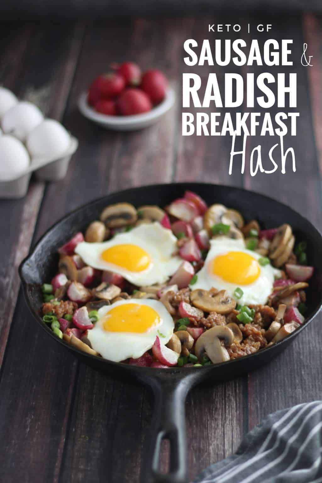 Keto Sausage and Radish Breakfast Hash