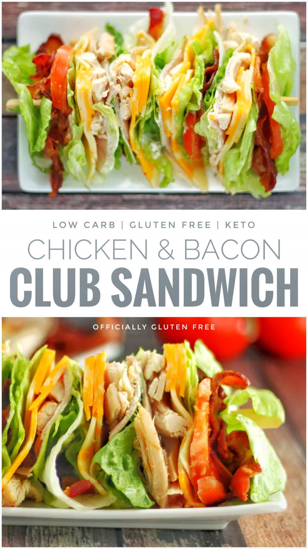 Low Carb Chicken Club Sandwich
