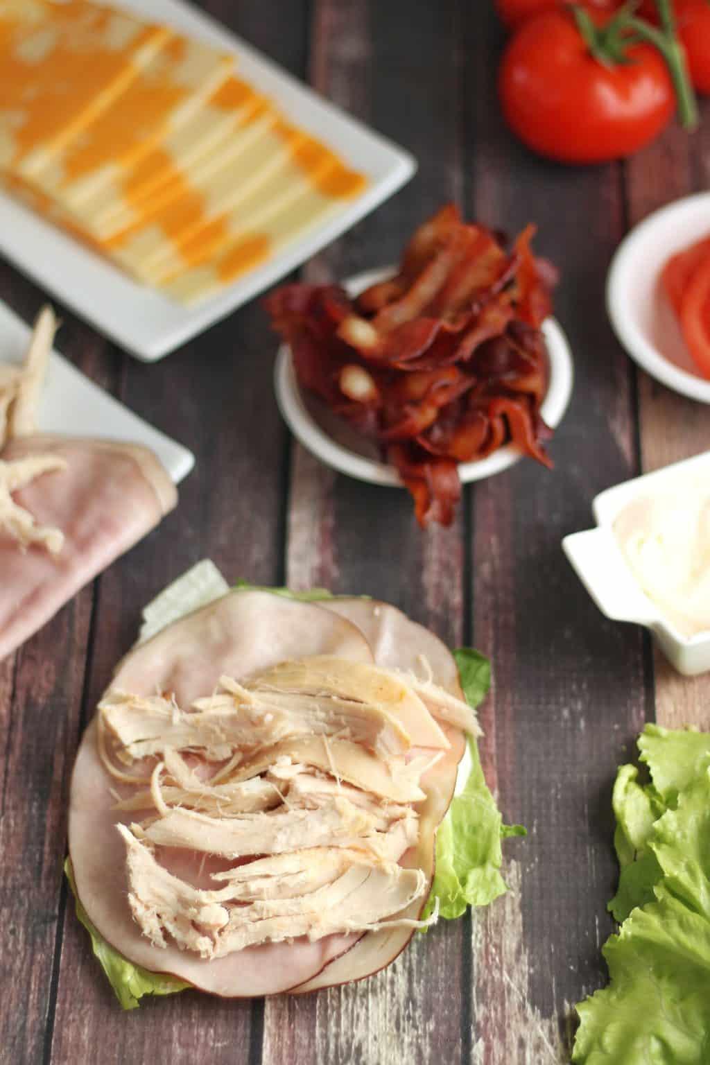 Low Carb Chicken Club Sandwich