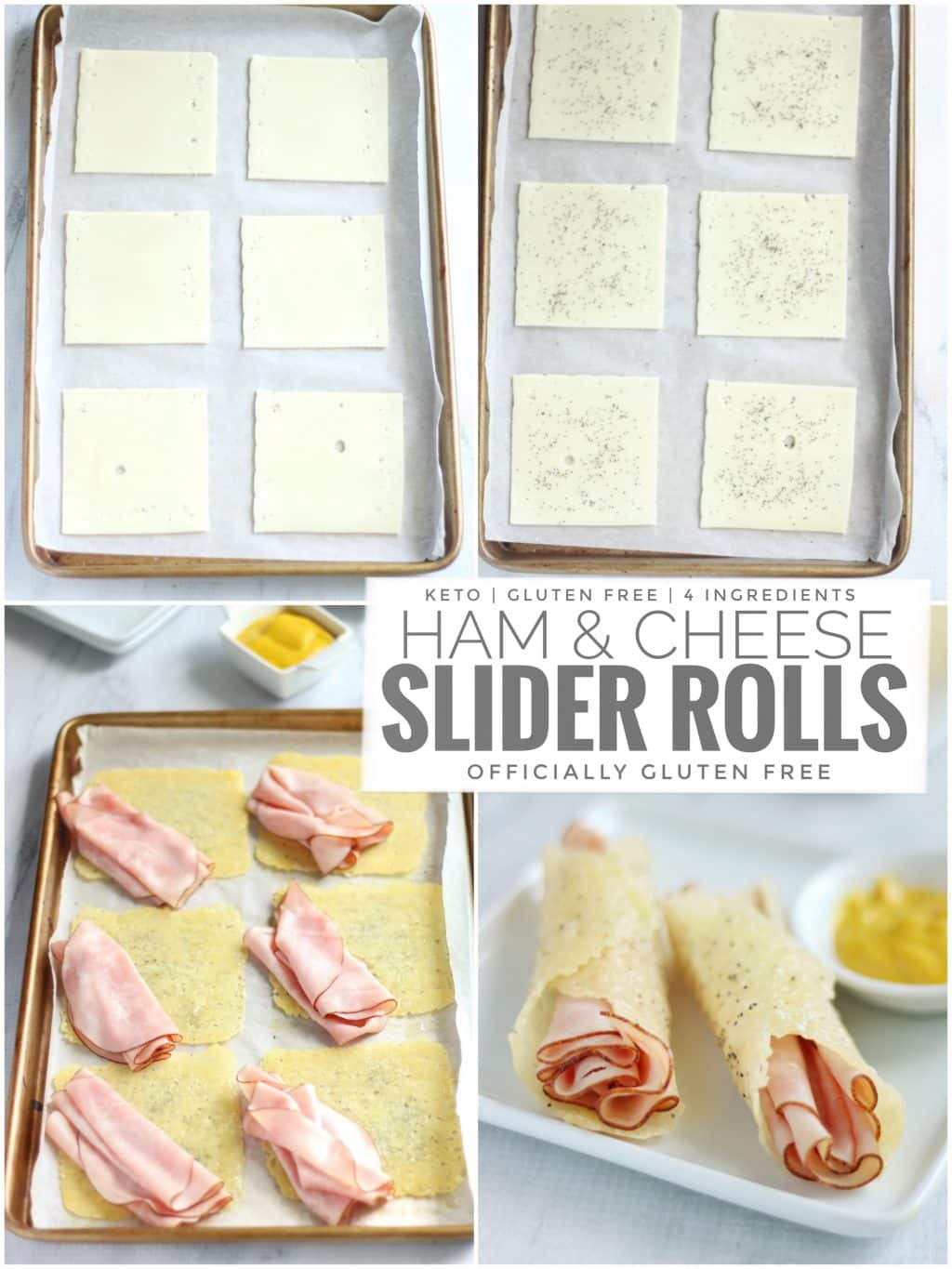 Keto Ham and Cheese Slider Rolls