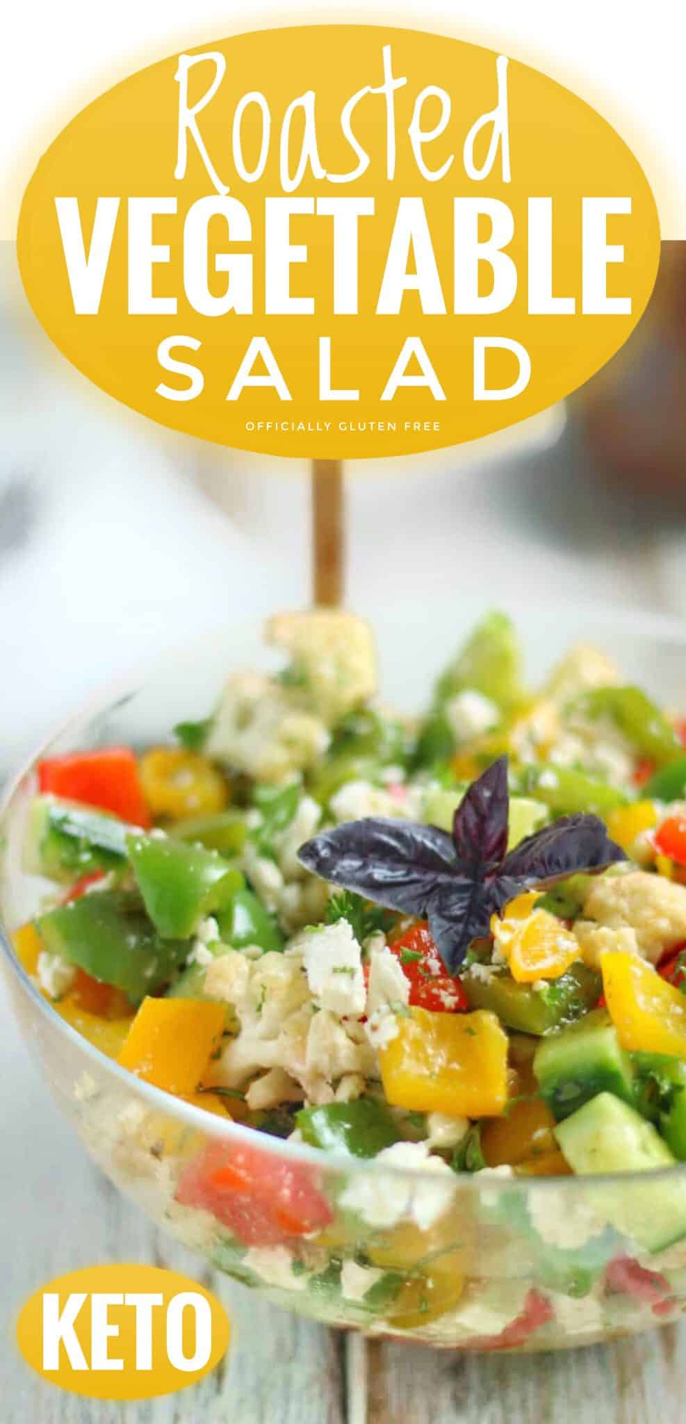Low Carb Roasted Vegetable Salad