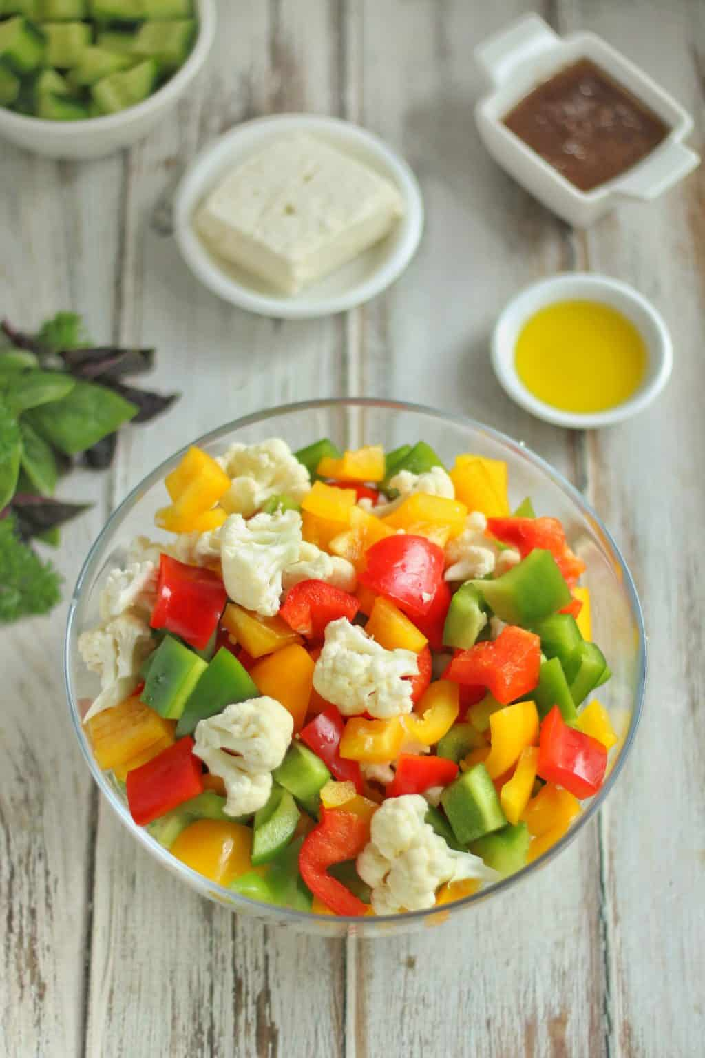 Low Carb Roasted Vegetable Salad